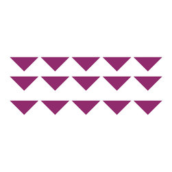 Triangle Wall Pattern Decal - Small - Create your own triangle pattern! Either solid color, ombre pattern, accent colored, color blocked, anything you can dream up you can create! Ideal for homes, kids rooms, and schools. Each triangle comes a separate piece so you can rearrange and create the perfect scene for your wall.