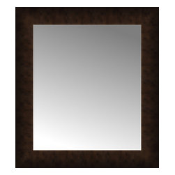 """Posters 2 Prints, LLC - 18"""" x 20"""" Dark Copper Custom Framed Mirror - 18"""" x 20"""" Custom Framed Mirror made by Posters 2 Prints. Standard glass with unrivaled selection of crafted mirror frames.  Protected with category II safety backing to keep glass fragments together should the mirror be accidentally broken.  Safe arrival guaranteed.  Made in the United States of America"""