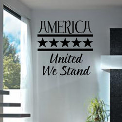 United we stand Vinyl Wall Decal hd005, White, 18 in. - Vinyl Wall Quotes are an awesome way to bring a room to life!