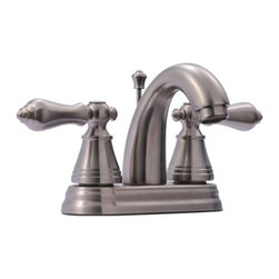 """Kingston Brass - Two Handle 4"""" Centerset Lavatory Faucet with Retail Pop-up FS7618AL - This bathroom faucet features a classic style while providing modern day functionality. This faucet has a deck mount setup and features a 4"""" centerset installation. The body is fabricated from solid brass for durability and long-lasting use. The color finish is made of satin nickel for its silvery, satin-like cast, as well as resisting scratches, corrosion and tarnishing. The spout has a reach of 3-7/8"""" and a height of 6"""". The handles allow for easy management of water volume and temperature.  The faucet operates with a ceramic disc valve for droplet-free functionality with the water measured 2.2 GPM (8.3 LPM) and a 60 PSI maximum rate.  An integrated removable aerator is inserted beneath the spout's head piece for conserving water flow. A pop-up drain in a matching finish is included. All mounting hardware is included and standard US plumbing connections are used.  A 10-year limited warranty is provided to the original consumer.Manufacturer: Kingston BrassModel: FS7618ALUPC: 663370132438Product Name: Two Handle 4"""" Centerset Lavatory Faucet with Retail Pop-upCollection / Series: English ClassicFinish: Satin NickelTheme: ClassicMaterial: Brass/Zinc AlloyType: FaucetFeatures: Fabricated from solid brass/zinc alloy material for durability and reliability"""