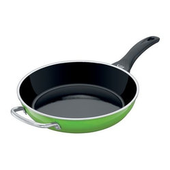 "Fresh Colors Deep Fry Pan w/ Auxillary Handle, 11"", Lemon Green"