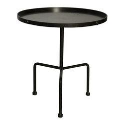 NOIR - NOIR Furniture - Paige Side Table in Metal - GTAB393MT - Features: