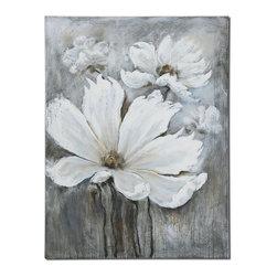 Uttermost - Uttermost 34250 White Magic Floral Art - Uttermost 34250 White Magic Floral Art