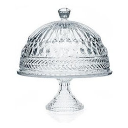 """Godinger Silver - Crystal Symphony Cake Plate with Dome - A unique way to add a special touch to any event , our crystal cake plate creates a beautiful presentation while leaving a lasting impression on your guests. Whether mom is a great baker, or relies on the neighborhood stores, her cakes will look lovely and stay oven fresh! The timeless design of this cake plate is perfect for any home and makes a lovely hostess gift she will enjoy for years to come. Cake stand is footed, providing a beautiful crystal centerpiece to display and serve cakes, pies, appetizers and more.        * Dimensions: L: 12"""" W: 12"""" H: 13"""""""