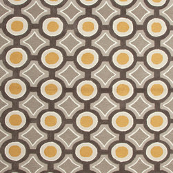 Jaipur Rugs - Modern Geometric Pattern Gold /Yellow Polyester Tufted Rug - BR31, 7.6x9.6 - A youthful spirit enlivens Esprit, a collection of contemporary rugs with joie de vivre! Punctuated by bold color and large-scale designs, this playful range packs a powerful design punch at a reasonable price.