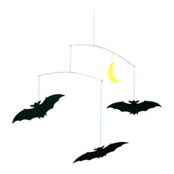 Flensted Mobiles - Lucky Bats Mobile - Right off the bat, you may think this mobile is a little spooky. But, did you know that in many cultures, this nocturnal creature is considered to be quite lucky? Perfectly balanced around a crescent moon, this trio of bats is perfect as a Halloween decoration or to hang wherever you feel a little good karma is needed.