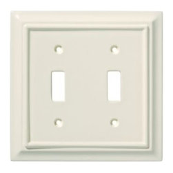 Liberty Hardware - Liberty Hardware 126447 Wood Architectural WP Collect 4.96 Inch Switch Plate - L - A simple change can make a huge impact on the look and feel of any room. Change out your old wall plates and give any room a brand new feel. Experience the look of a quality Liberty Hardware wall plate.. Width - 4.96 Inch,Height - 4.9 Inch,Projection - 0.4 Inch,Finish - Light Almond,Weight - 0.26 Lbs