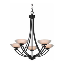 Dolan Designs - 5 Light 30 75 Height Chandelier With 1 Tier - Bulb Type:Halogen. Bulb Base:G9. Bulb Wattage:60. Bulb Count:5. Bulbs Included