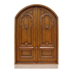 "Traditional Collection | 2772 - Species: Superior Alder, Distress: Sierra, Hinges: 8.-5"" Ball Bering Hinges ORB, Exterior Door"