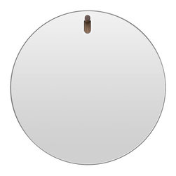 Blu Dot - Blu Dot Hang 1 Round Mirror - How's about a round of aplomb? This circular mirror with an easy-hang walnut peg is the ideal addition to your favorite setting. You'll see yourself looking cooler than ever.