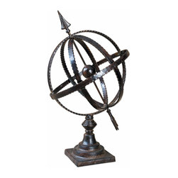 Uttermost - Diez Metal Globe - If you want to know where Ecuador is, this globe won't help you. But if you're looking for a stylish, geometric take on the world, it will.