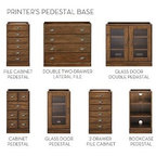 Black Wood Distressed Two-Drawer File Cabinet - Traditional - Filing Cabinets - by Overstock.com