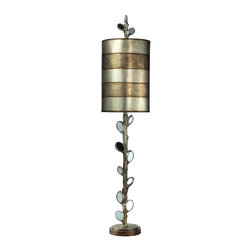 Joshua Marshal - One Light Mirror And Antique Silver Table Lamp - One Light Mirror And Antique Silver Table Lamp