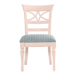 Stanley Furniture - Coastal Living Cottage Sea Watch Side Chair - Conch Finish - Combine a filigree back and chamfered legs and you've got reason to sit a little longer. Features a cushioned seat in your choice of five fabrics. Made to order in America.
