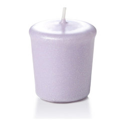 Neo-Image Candlelight Ltd - Set of 18 - Yummi 15 hr Lavender Pearlescent Votive Candles - Our unscented 15 hour Pearlescent Votive Candles are ideal when creating a beautiful candlelight arrangement for the home or wedding decor.  Available in 7 trendy pearlescent candle colors hand over dipped with white core to match and compliment your home decor or wedding centerpiece decoration.