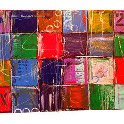 Apt. No. 4, Painting - Original acrylic painting on canvas 36 x 24 x 1.5