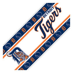 Sports Coverage - MLB Detroit Tigers Self Stick Wall Border - Features: