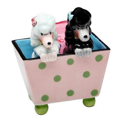 """ATD - 4 3/8"""" Black/White Poodles In Polka Dot Box Salt and Pepper Shaker Set - This gorgeous 4 3/8"""" Black/White Poodles In Polka Dot Box Salt and Pepper Shaker Set has the finest details and highest quality you will find anywhere! 4 3/8"""" Black/White Poodles In Polka Dot Box Salt and Pepper Shaker Set is truly remarkable."""