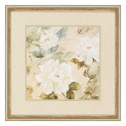 Paragon - White Flowers II - Framed Art - Each product is custom made upon order so there might be small variations from the picture displayed. No two pieces are exactly alike.