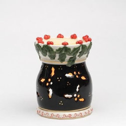 ATD - Christmas Holiday Themed Holly Berry Themed Porcelain Tart Burner - This gorgeous Christmas Holiday Themed Holly Berry Themed Porcelain Tart Burner has the finest details and highest quality you will find anywhere! Christmas Holiday Themed Holly Berry Themed Porcelain Tart Burner is truly remarkable.