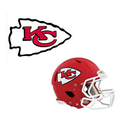 Brewster Home Fashions - NFL Kansas City Chiefs Wall Graphics 4pc Teammate Stickers - FEATURES: