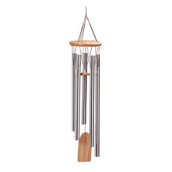 KOOLEKOO - Resonant Windchime - Nature's own music sounds best when accompanied by the gentle tones of this aluminum and natural pine wind chime.