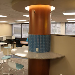 Curve-Column Covers - Another column that uses the space as a countertop.