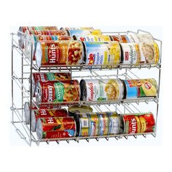 DecoBros Supreme Stackable Can Rack Organizer, Chrome Finish - Stacked cans are difficult to see and not always the most efficient storage method. A can rack will help keep your cans safely in place and allow you to see what you have on hand.