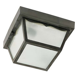 """Nuvo Lighting - Nuvo Lighting 77/891 Single Light 10"""" Carport Flush Mount Ceiling Fixture with F - Nuvo Lighting 77/891 Single Light 10"""" Carport Flush Mount Ceiling Fixture with Frosted Acrylic Panels, in Black FinishNuvo Lighting 77/891 Features:"""