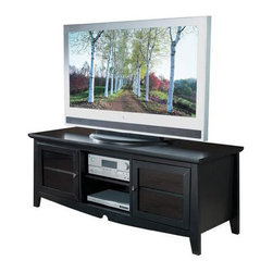 Office Star - Office Star 60 Inch Plasma LCD Black TV Stand - Office Star - TV Stands - TV0860FBK - This contemporary flat screen TV stand will be the foundation of your home theatre for years to come. The sturdy and durable wood construction is finished off with a sleek and attractive black finish. Bring this home and watch your favorite show in style!