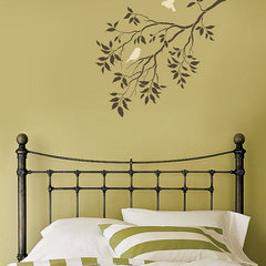 Wall Art Reusable Wall Stencils. Birds on a Branch