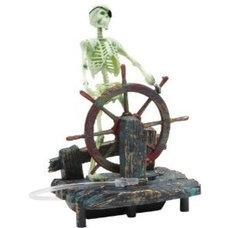 Amazon.com: Action Air® Pirate Skeleton-at-the-Wheel Live-Action Aerating Aquari
