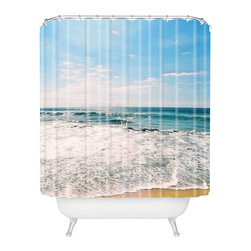 DENY Designs - Lisa Argyropoulos Take Me There Shower Curtain - Who says bathrooms can't be fun? To get the most bang for your buck, start with an artistic, inventive shower curtain. We've got endless options that will really make your bathroom pop. Heck, your guests may start spending a little extra time in there because of it!
