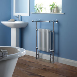 Traditional Period Style Brass Heated Bathroom Towel Radiator Rail 37 x 25
