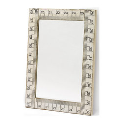 Tape Measure Mirror - The tape measure mirror features a tape measure design on the borderline. This square shape mirror is made up of durable and fine-quality material.