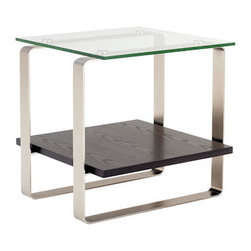 BDI - BDI Stream End Table - The commanding yet elegant Stream End Table by BDI is a welcome addition to a modern home or office. Three materials are used to create the dual surface table.