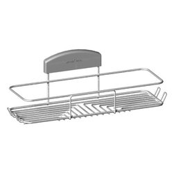 STORit - Storit Large Basket Stainless Steel - This stylishly designed, stainless steel basket mounts easily to the unique STORit bracket system and can be installed on any surface, at any height - no tools required! The Large Basket will store a variety of shower bottles and will not swing, even with uneven loads! It also has integrated hooks for additional storage.