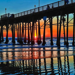 Murals Your Way - Oceanside Pier Wall Art - Photographed by Alan Crosthwaite, the Oceanside Pier wall mural from Murals Your Way will add a distinctive touch to any room