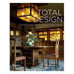"Rizzoli International Publications - ""Total Design: Architecture and Interiors of Iconic Modern Houses"" Hardcover - Celebrating the ultimate masterpieces of modernist design, from the Arts and Crafts movement up to the twenty-first century, Total Design offers an intimate tour of houses conceived as complete works of art. Each of the spectacular houses making up Total Design demonstrates how an architect realized a unifying vision through all aspects of design'architecture, furniture, fittings, decorative objects, color, and gardens. Presenting masterpieces of modern architecture conceived as complete works of art inside and out, author George H. Marcus, a veteran chronicler of modernist design, delivers a highly accessible tour of the creations of some of the twentieth century's greatest architects and designers, including Frank Lloyd Wright, Mies van der Rohe, Alvar Aalto, Eero Saarinen, Charles Rennie Mackintosh, and Gio Ponti. Together these masterworks of design offer a stunning survey of the many modes of modernist design, from the inventive refinement of Pierre Chareau to the colorful Nordic forms of Finn Juhl to the twenty-first-century expressionism of Daniel Libeskind."