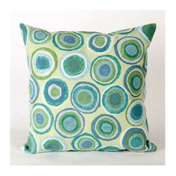 Trans Ocean Import - Puddle Dot Spa Pillow 20x20 - Liora Manne?s pillows are made using her patented Lamontage process, now with 100% polyester microfiber for an extra-soft hand. The zipper-closure covers are removable for easy-care and are hand washable. Indoor/outdoor and antimicrobial. Handmade. Puddle Dot is a work of art that combines intricate hand crafting with modern technology.   - Designed by Liora Manne  - 100% Polyester  - Hand Made  - Easy Care and Maintenance Trans Ocean Import - 7SC2S412804