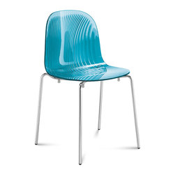 Domitalia - Playa Stacking Chair, Transparent Blue - Stacking Chair