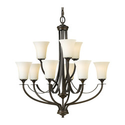 Feiss - Feiss F2253/6+3ORB Barrington 9 Light Oil Rubbed Bronze Chandelier - Finish: Oil Rubbed Bronze