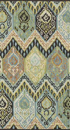 """Loloi Rugs - Loloi Rugs Mayfield Collection - Multi, 3'-6"""" x 5'-6"""" - Hand-hooked in India of 100% wool, the affordable Mayfield Collection features a set of versatile transitional designs in a knobby, chunky loop texture that are as easy on the feet as they are on the eyes. Designs range from floral reinterpretationsto wildly popular chevron patterns, all in a full spectrum of colors that are sure to liven up any room."""