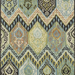 "Loloi Rugs - Loloi Rugs Mayfield Collection - Multi, 3'-6"" x 5'-6"" - Hand-hooked in India of 100% wool, the affordable Mayfield Collection features a set of versatile transitional designs in a knobby, chunky loop texture that are as easy on the feet as they are on the eyes. Designs range from floral reinterpretationsto wildly popular chevron patterns, all in a full spectrum of colors that are sure to liven up any room."