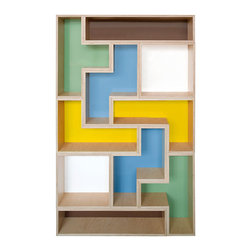 Tetrad Flat Shelving - I know this shelving unit is pricey, but I couldn't resist. It's actually several separate units that fit together in a tessellated fashion. It would make an amazing piece in any child's room, and it would house all sorts of special toys, including prized Lego creations.