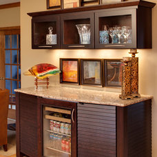 Contemporary Home Bar by Sazama Design Build Remodel