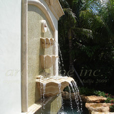 Tropical Outdoor Fountains by Archetype Inc.