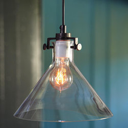 MERIDIAN PENDANT LAMP - These simple and beautiful handblown pendant lights were inspired by laboratory glassware.
