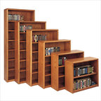 Martin Furniture - Martin Furniture Contemporary Bookcase with 6 Shelves in Medium Oak - Martin Furniture - Bookcases - OB3670/X - An original Martin Home Furnishings collection Contemporary is a simple and functional collection. Each piece is finished with multiple-step hand rubbed lacquer and the case pieces have well-defined bull-nose solid red oak moldings and drawer fronts. The genuine plane slice red oak veneers carefully layered over engineered wood core ensure that this collection will stand the test of time.