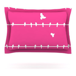 "Kess InHouse - Bree Madden ""Pink Birds"" Pillow Sham (Cotton, 30"" x 20"") - Pairing your already chic duvet cover with playful pillow shams is the perfect way to tie your bedroom together. There are endless possibilities to feed your artistic palette with these imaginative pillow shams. It will looks so elegant you won't want ruin the masterpiece you have created when you go to bed. Not only are these pillow shams nice to look at they are also made from a high quality cotton blend. They are so soft that they will elevate your sleep up to level that is beyond Cloud 9. We always print our goods with the highest quality printing process in order to maintain the integrity of the art that you are adeptly displaying. This means that you won't have to worry about your art fading or your sham loosing it's freshness."
